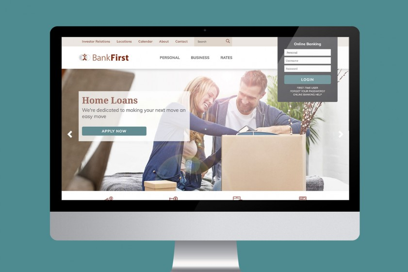 Bank First website let us flaunt our flexibility