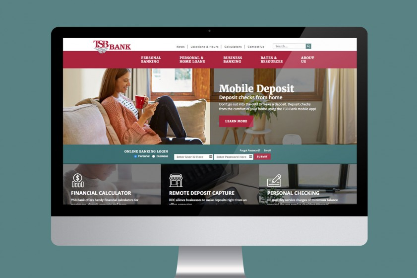 New bank website a win-win for our client, their customers
