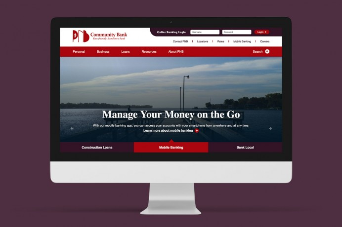 New bank website builds upon a chain of change