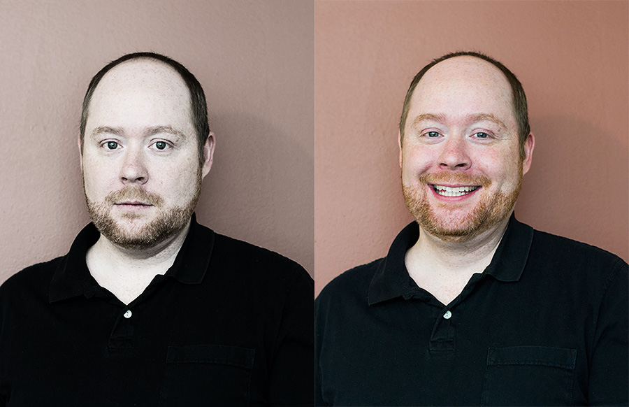 bad image on the left, good image on the right