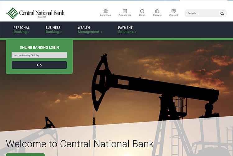 Homepage image of Stride Bank website design