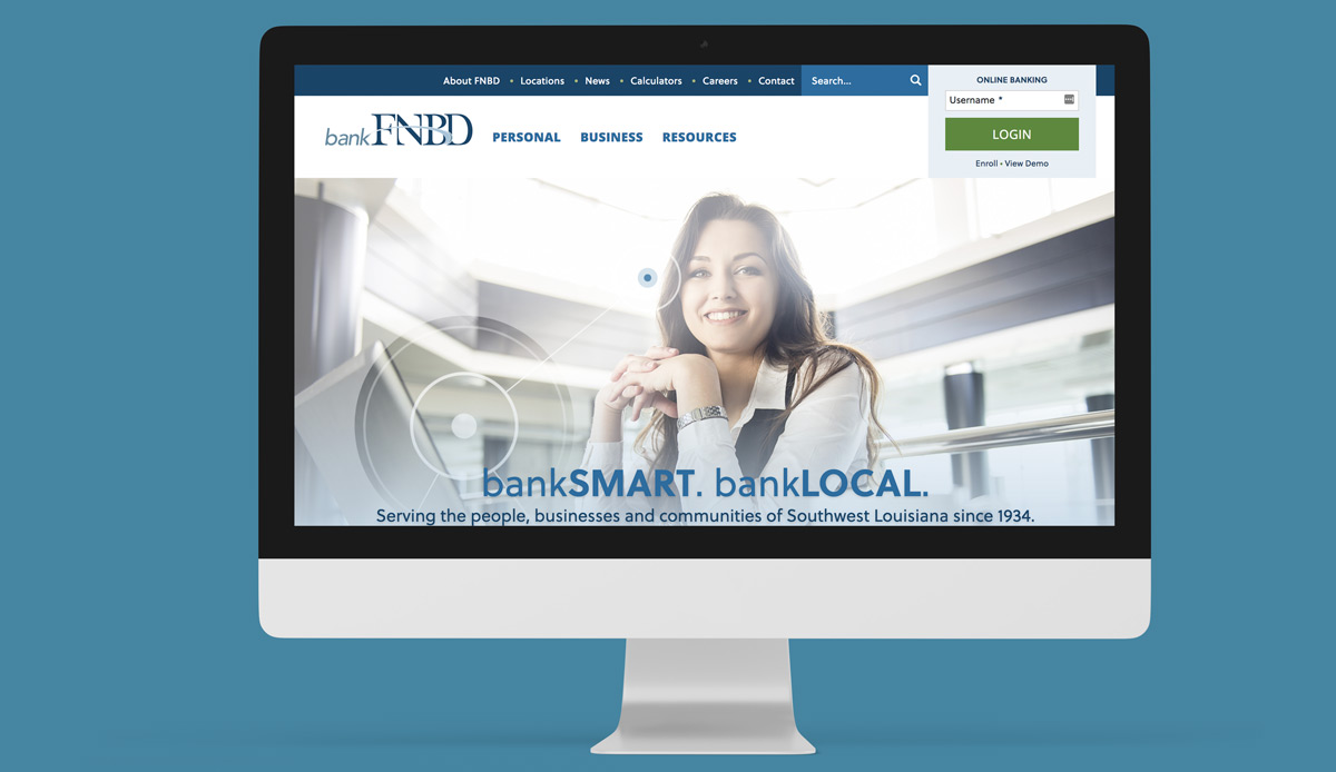 Screenshot of First National Bank DeRidder
