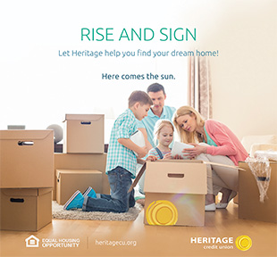 sample of a print ad for Heritage Credit Union