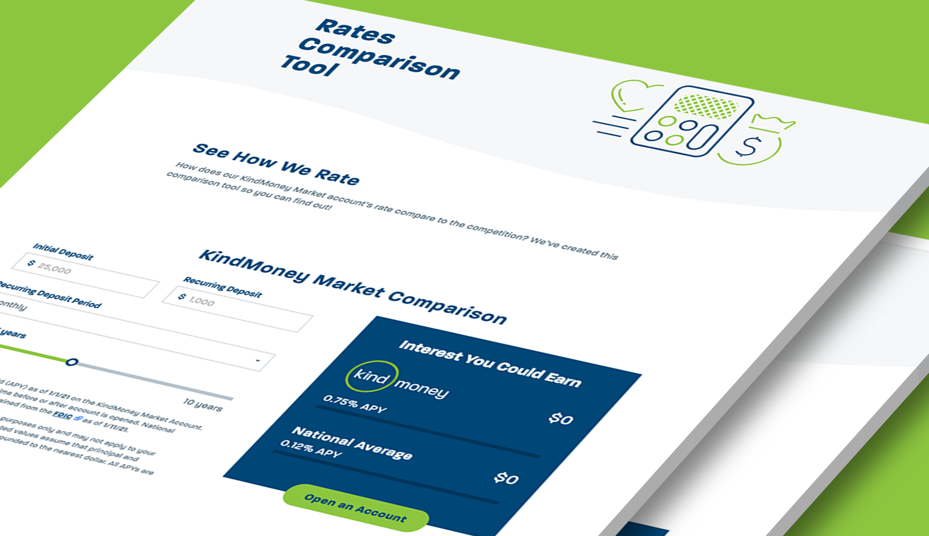 The rates-comparison tool from KindMoney's website