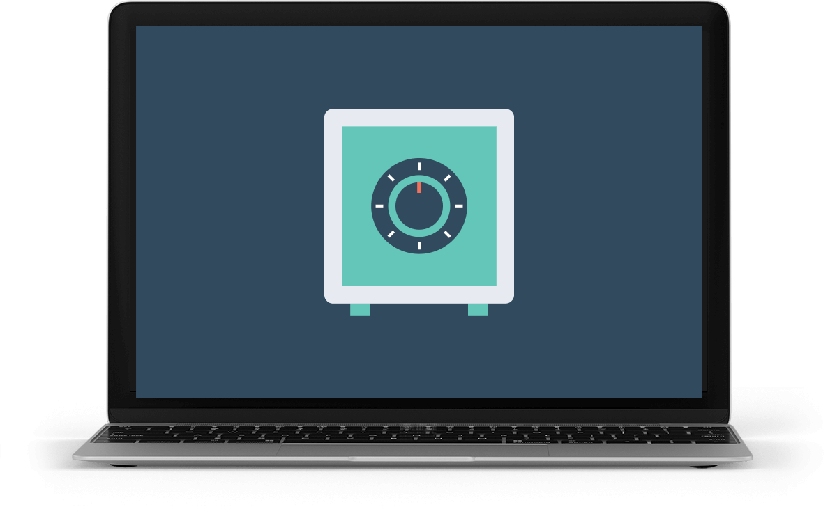 laptop displaying an icon that represents our work